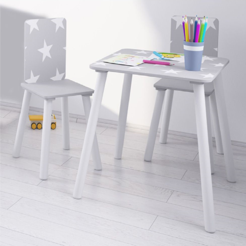 Kidsaw Grey Star Table & Chairs