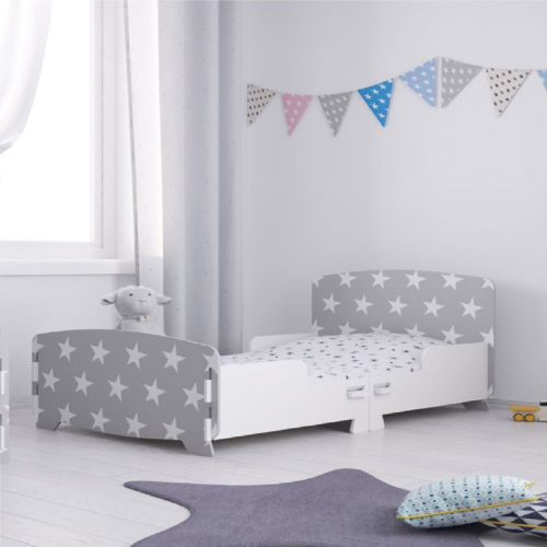 Kidsaw Grey Star Junior Toddler Bed