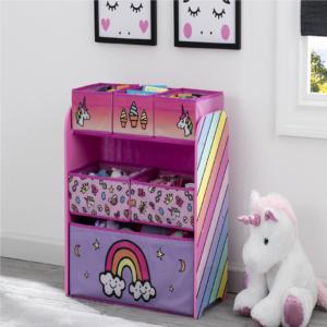 RAINBOW-MULTI-BIN-TOY-ORGANIZR-unicorn