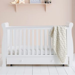 East Coast Kensington Sleigh 3 Piece Nursery Room Set - White/Grey
