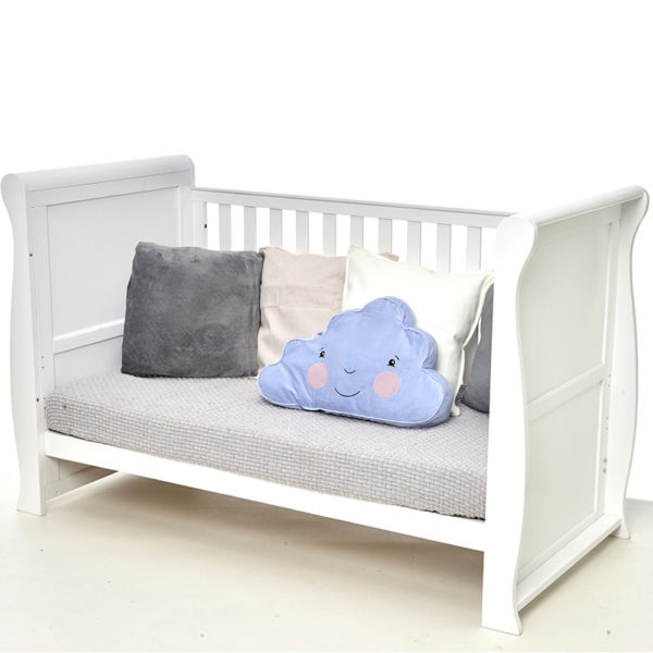 East Coast Kensington Sleigh 3 Piece Nursery Room Set - White/Grey1