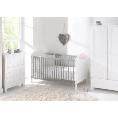 east coast angelina white grey 3 piece nursery room set