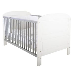 East Coast Angelina 3 Piece Nursery Room Set - White/Grey