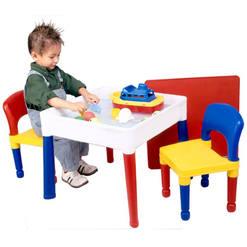 Liberty House Toys - 5 in 1 Multipurpose Square Activity Table & 2 Chair1