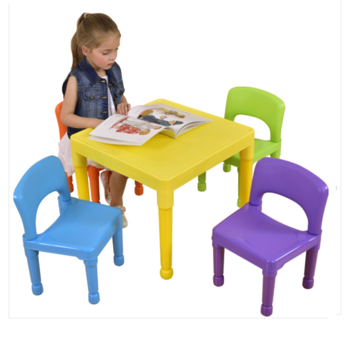 Liberty House Toys - Children's Multi-Coloured Table & 4 Chairs Set1
