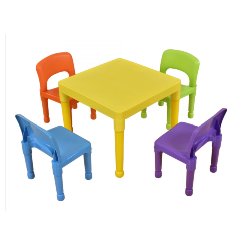 Liberty House Toys - Children's Multi-Coloured Table & 4 Chairs Set