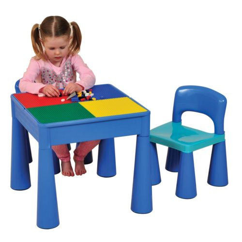 Liberty House Toys - 5 in 1 Multipurpose Activity Table & 2 Chairs - BLUE