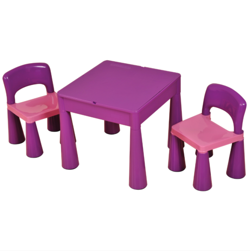 Liberty House Toys - 5 in 1 Multipurpose Activity Table & 2 Chairs - PURPLE