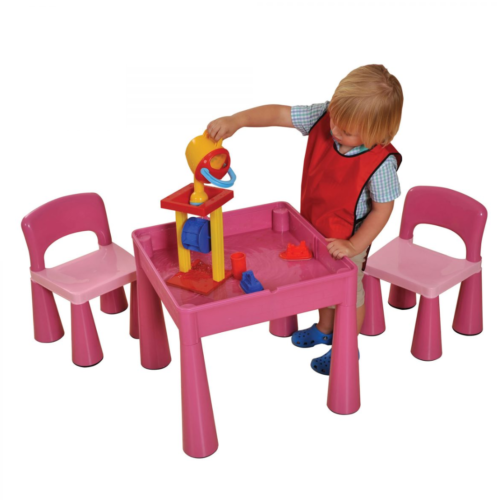 Liberty House Toys - 5 in 1 Multipurpose Activity Table & 2 Chairs - PINK1