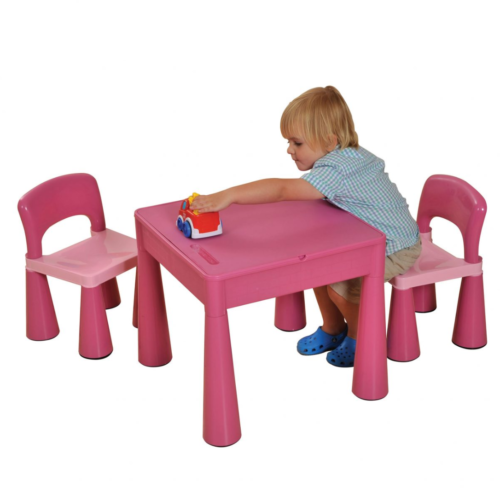 Liberty House Toys - 5 in 1 Multipurpose Activity Table & 2 Chairs - PINK