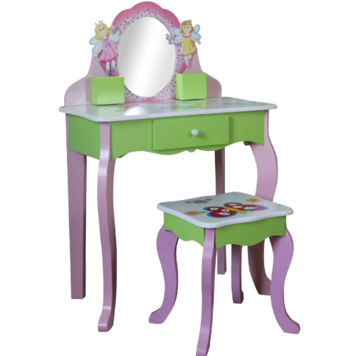 Liberty House Toys Butterfly Dressing Table with Stool