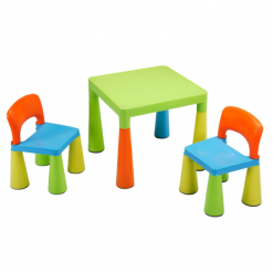 CHILDRENS-MULTI-COLOURED-TABLE-CHAIRS-SET