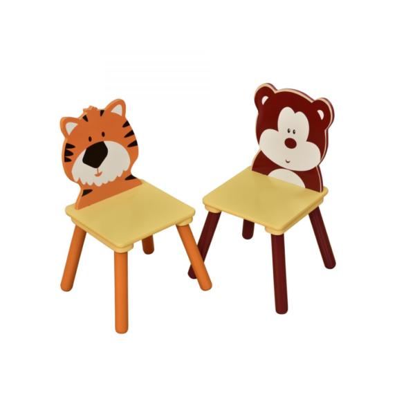 JUNGLE-WOODEN-CHAIR-SET-2-BEAR-TIGER