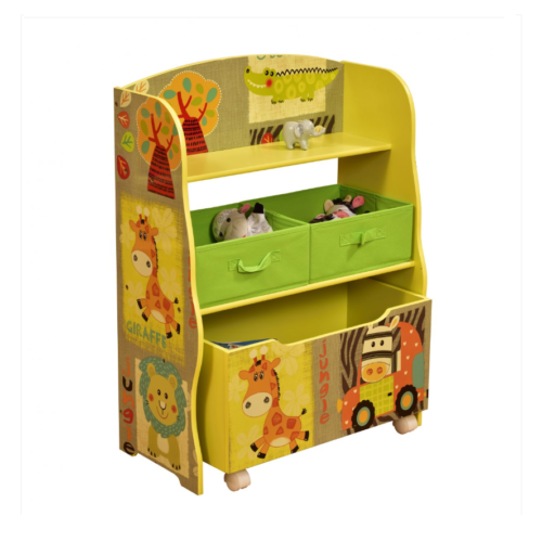 Liberty House Toys Kid Safari Storage with Fabric BinsE-FABRIC-BINS-1