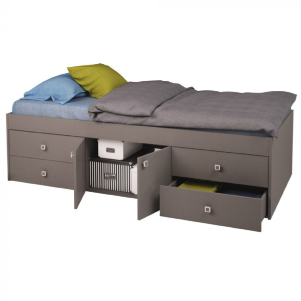 Kidsaw-Captains-Single-3ft-Cabin-Bed-Grey