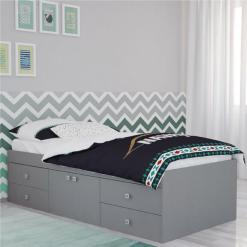 Kidsaw-Captains-Single-3ft-Cabin-Bed-Grey1