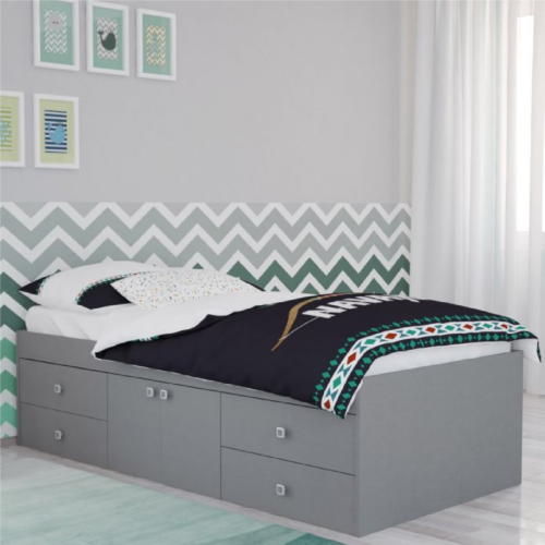 Kidsaw Grey Captains Single 3ft Cabin Bed