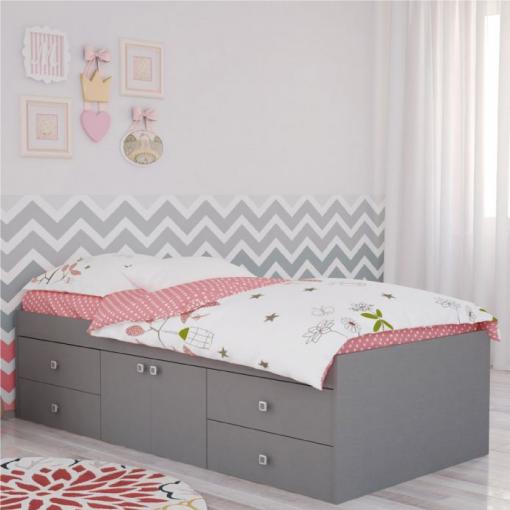 Kidsaw-Captains-Single-3ft-Cabin-Bed-Grey2