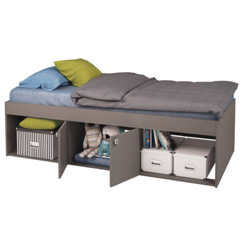 Kidsaw-Low-Single-3ft-Cabin-Bed-Grey