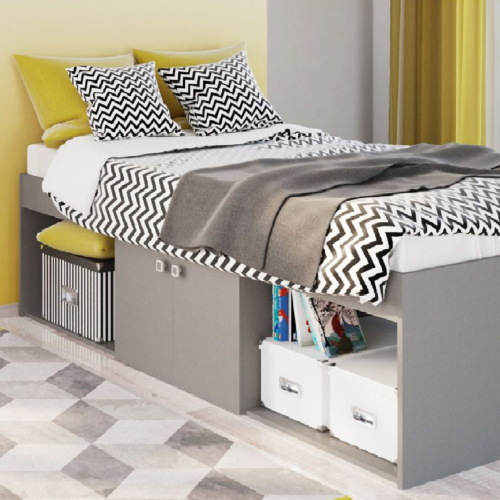 Kidsaw-Low-Single-3ft-Cabin-Bed-Grey1