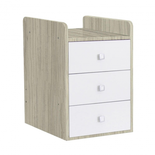 Kudl-Cotbed-Simple-1100-with-Drawer-Unit-ElmWhite-2