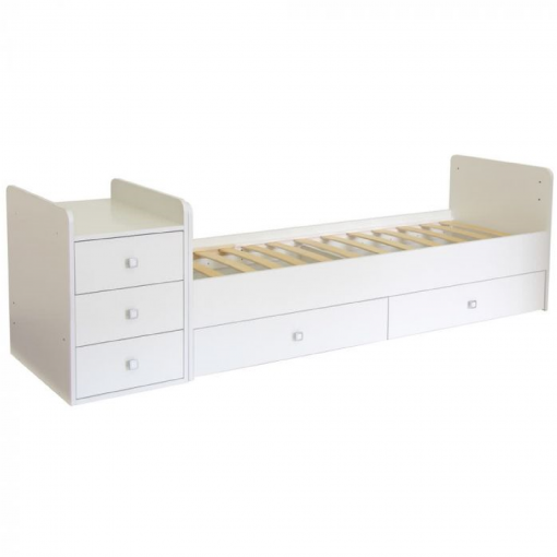 Kudl-Cotbed-Simple-1100-with-Drawer-Unit-White2