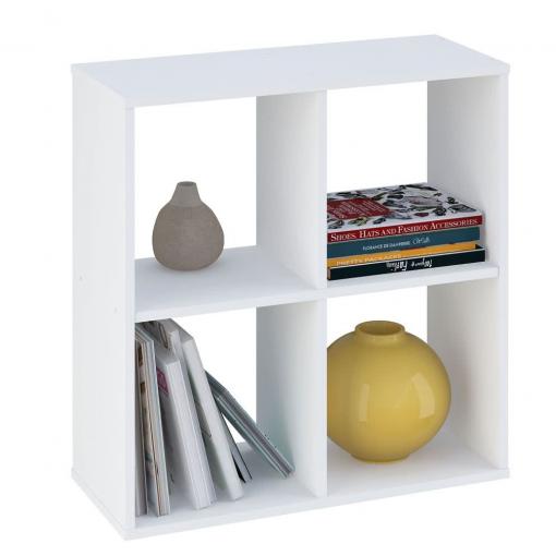 Kudl-Home-Smart-4-Cubic-Section-Shelving-Unit-White1