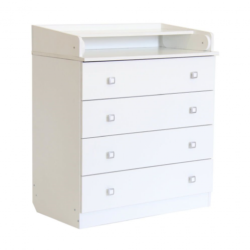 Kudl-Kids-4-Drawer-Unit-1580-With-Changing-Board-and-Storage-White