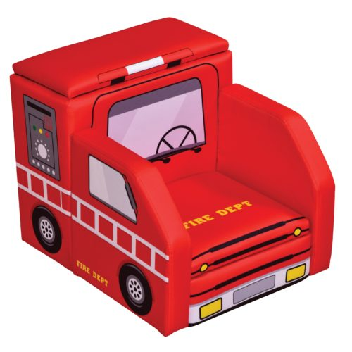Liberty House Toys Fire Engine Sofa with Storage