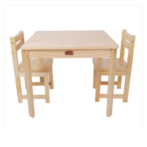 Liberty House Toys - Boss Table & Chairs Set Natural