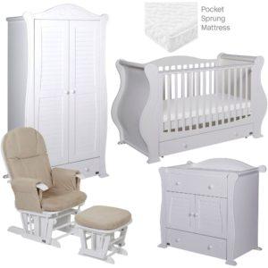 Tutti-Bambini-Marie-5-Piece-Room-Set-White-White