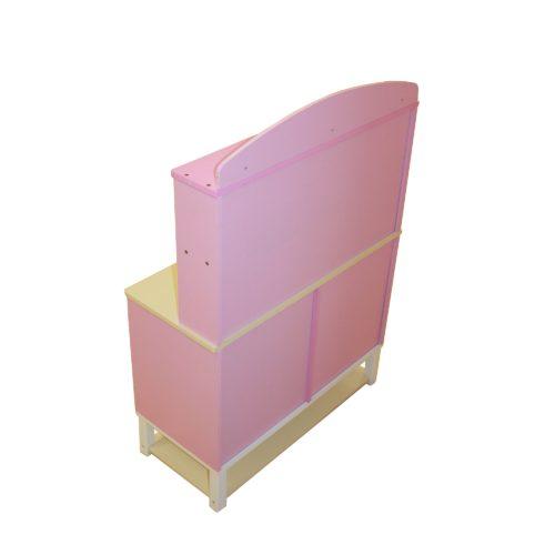 Liberty House Toys - Wooden Toy Kitchen with Microwave - Pink Gingham4