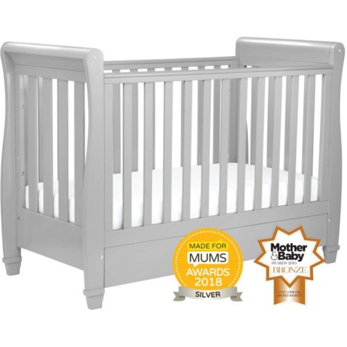 babymore-sleigh-eva-cot-bed-pebble-grey-dropside