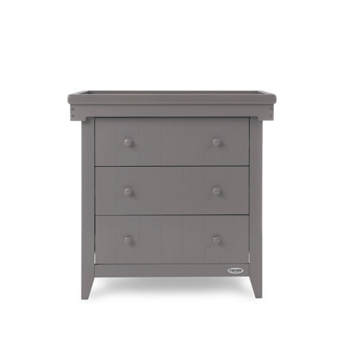 Belton Changing Unit Cot Top Changer Taupe Grey