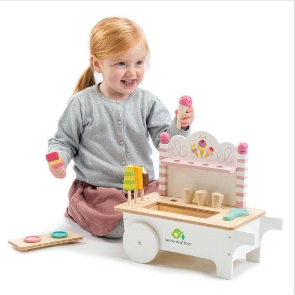 Tender Leaf Toys Ice Cream Cart1