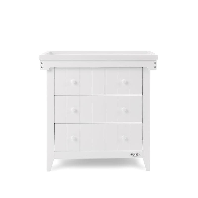 Obaby Belton 2 Piece Nursery Room Set/Cot Top Changer - White8