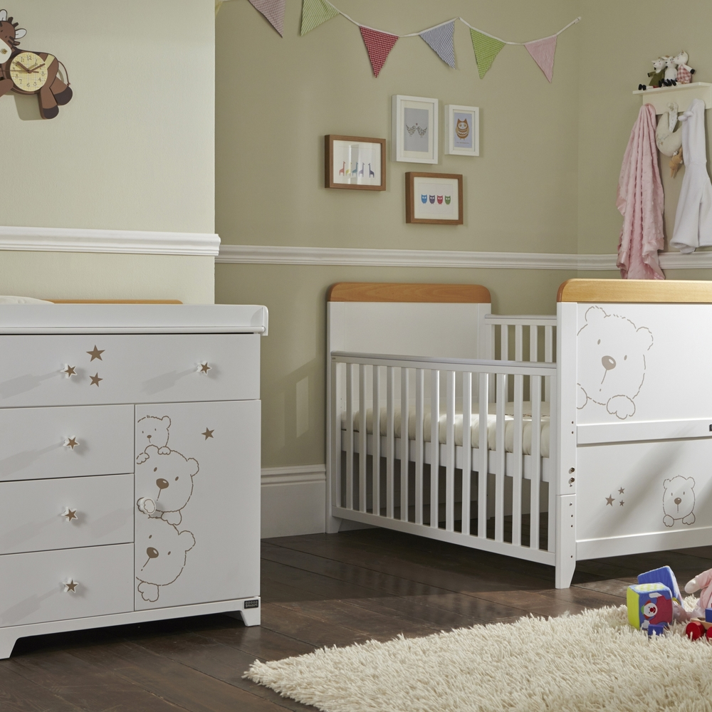 Tutti Bambini 3 Bears 2 Piece Nursery Room Set White