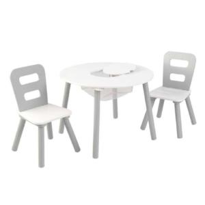 Kidkraft-Round-Storage-Table-2-Chair-Set-Gray-White