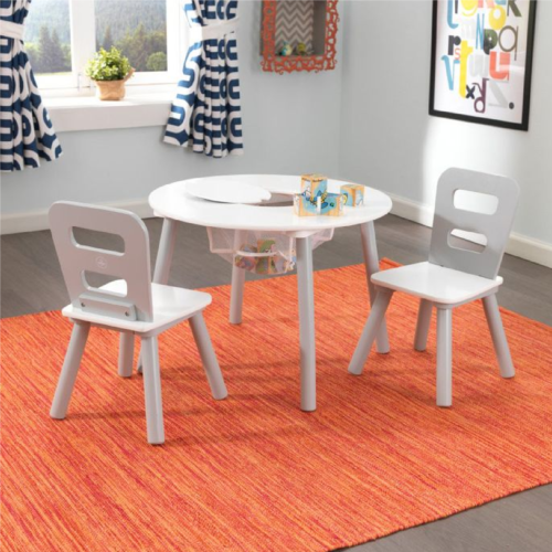 Kidkraft-Round-Storage-Table-2-Chair-Set-Gray-White1