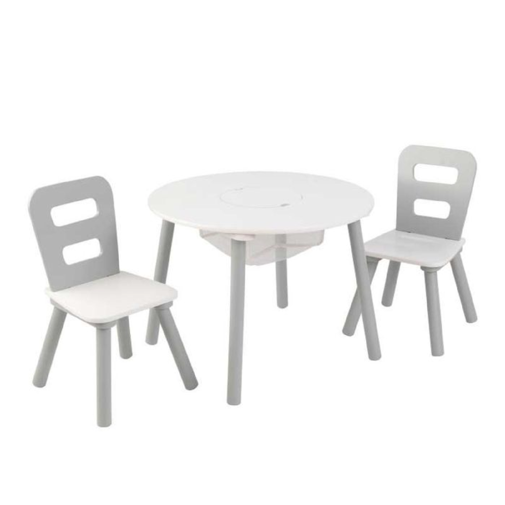 Kidkraft-Round-Storage-Table-2-Chair-Set-Gray-White2