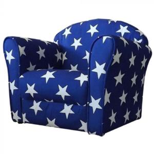 Kidsaw Mini Armchair Blue White Stars1