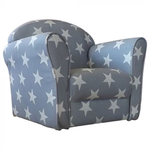 Kidsaw Grey White Stars Mini Armchair