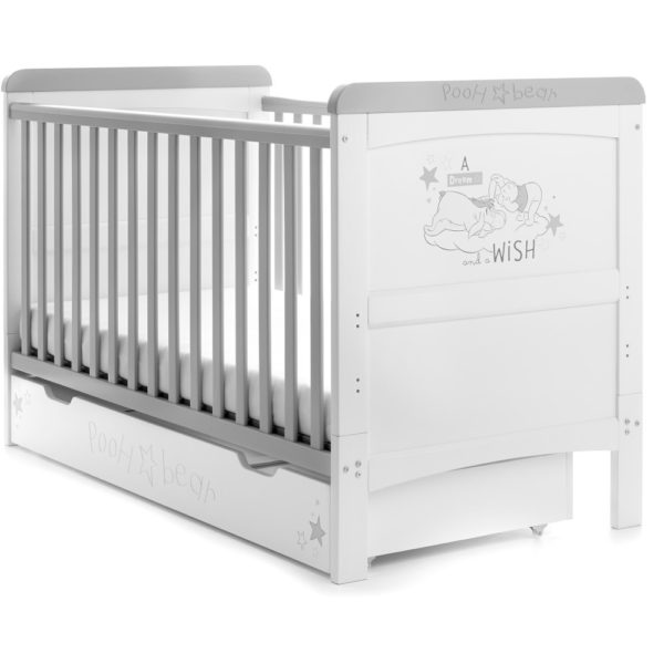 Obaby-Winnie-the-Pooh-Deluxe-Cot-Bed-and-Underdrawer-Dreams-and-Wishes