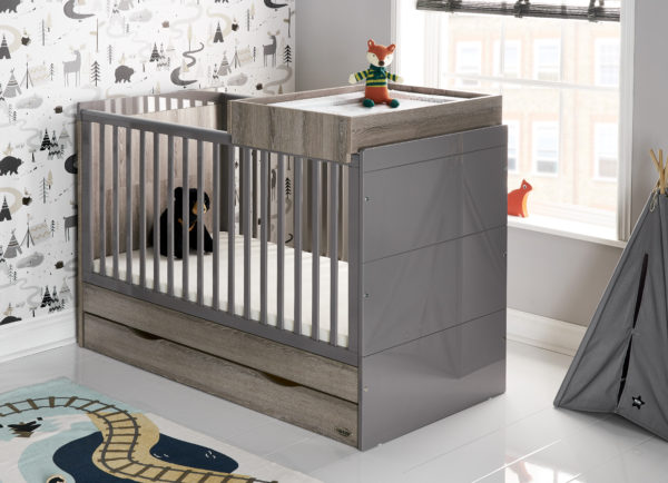 Obaby Madrid Cot Top Changer - Eclipse2