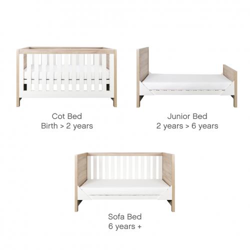 tutti-bambini-modena-2-piece-nursery-room-set-white-and-oak-junior-bed-options