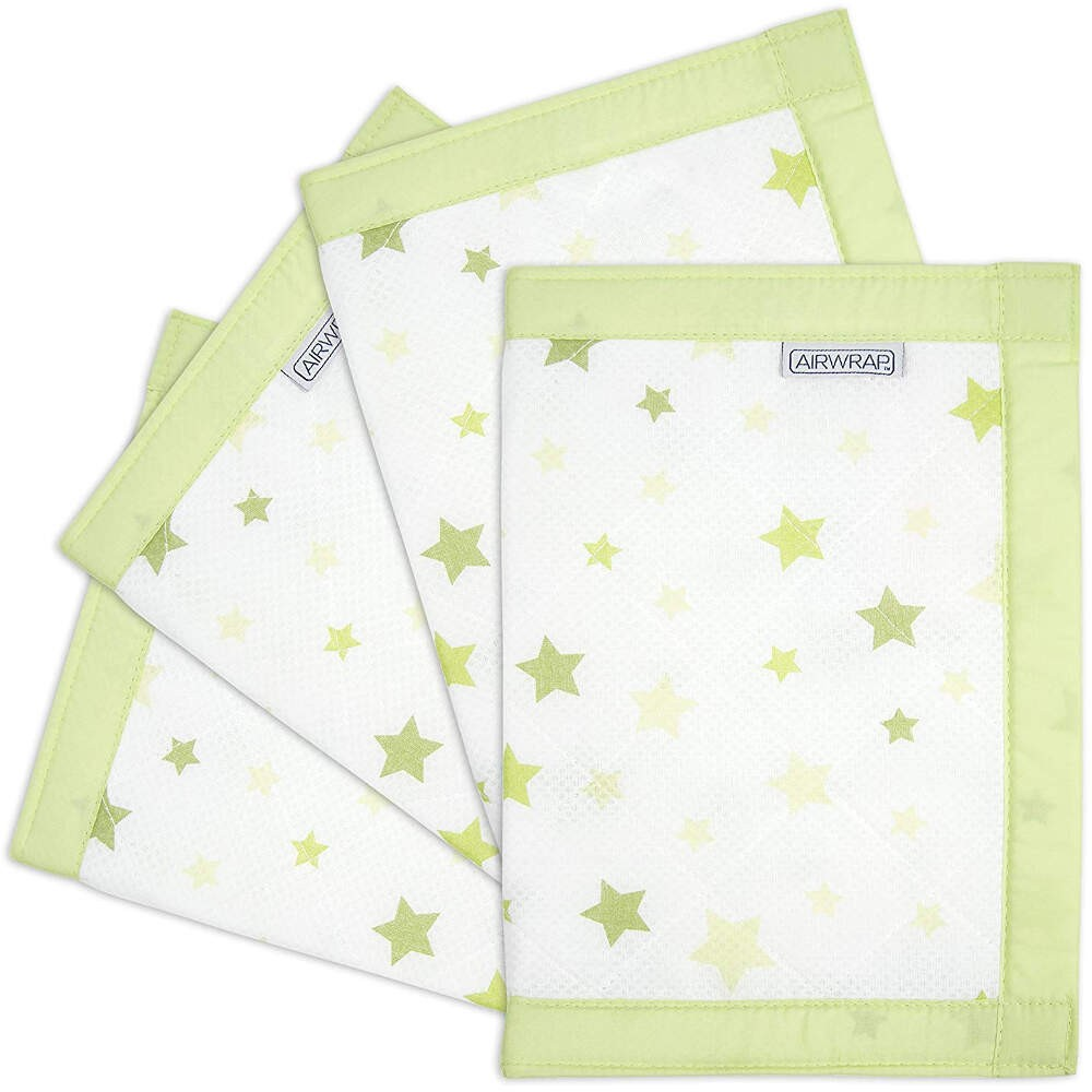 Airwrap-4-Sided-Cot-Protector-Green-Stars