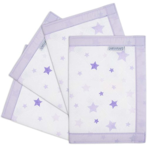 Airwrap-4-Sided-Cot-Protector-Lavender-Stars