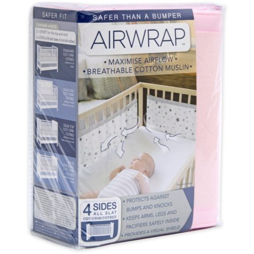 Airwrap-4-Sided-Cot-Protector-Pink-1