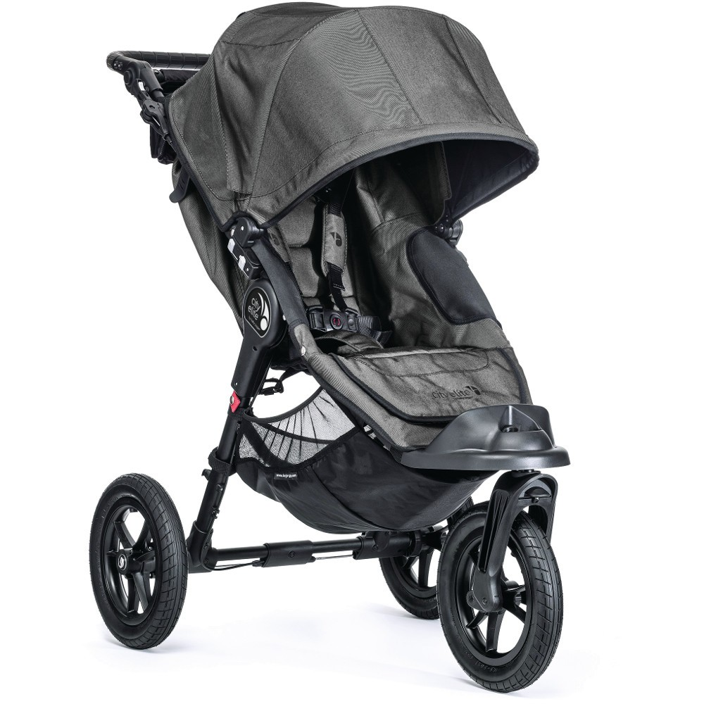 Baby Jogger City Elite Stroller Newborn Package - Charcoal Denim