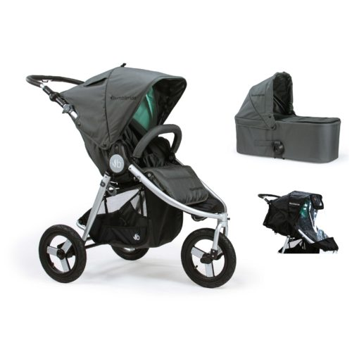 Bumbleride Indie 2 in 1 Dawn Grey Mint (Stroller Carrycot Raincover)